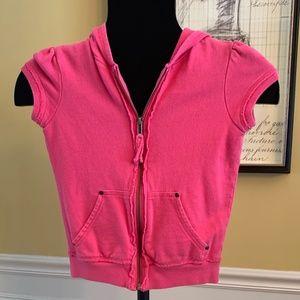 Pink Short Sleeve Hoodie